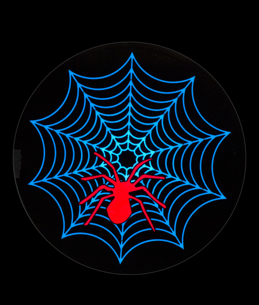 Fun Central AT710 LED Light Up Sound Activated Patch-Spider Web