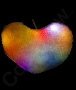 Fun Central AI702 LED Light Up Heart Pillow - Multicolor