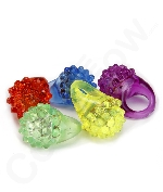 Fun Central I431 LED Light Up Jelly Bumpy Rings - Assorted