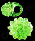 Fun Central AJ291 LED Light Up Jelly Bumpy Rings - Green