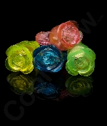 Fun Central I544 LED Light Up Jelly Flower Rings - Assorted