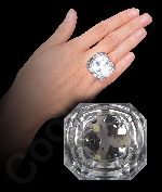 Fun Central AI670 LED Light Up Princess Cut Diamond Bling Rings