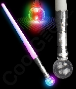 LED Crystal Ball Saber 24 Inch