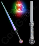 LED 31 Inch Expandable Crystal Ball Sword - Silver