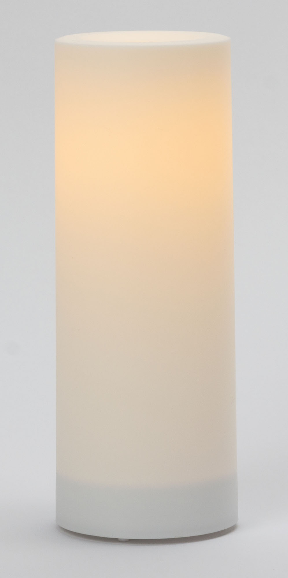 8x3 Inch Flameless Outdoor Pillar Candle with Timer - White