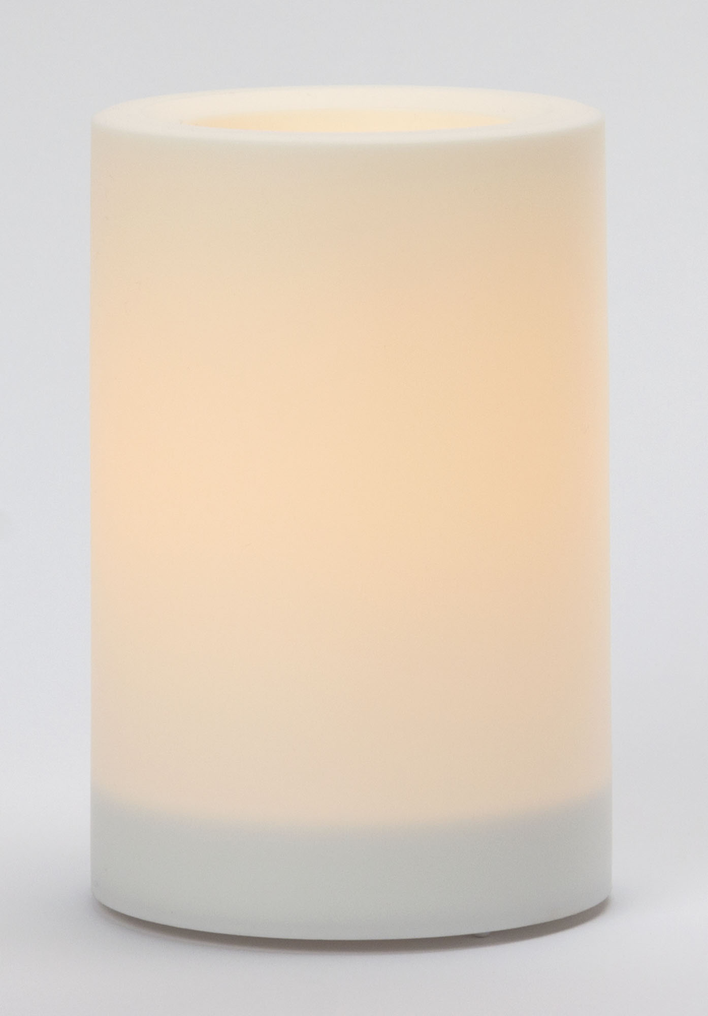 6x4 Inch Flameless Outdoor Pillar Candle with Timer - White