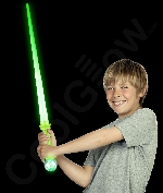 LED 31 Inch Expandable Crystal Ball Sword - Green