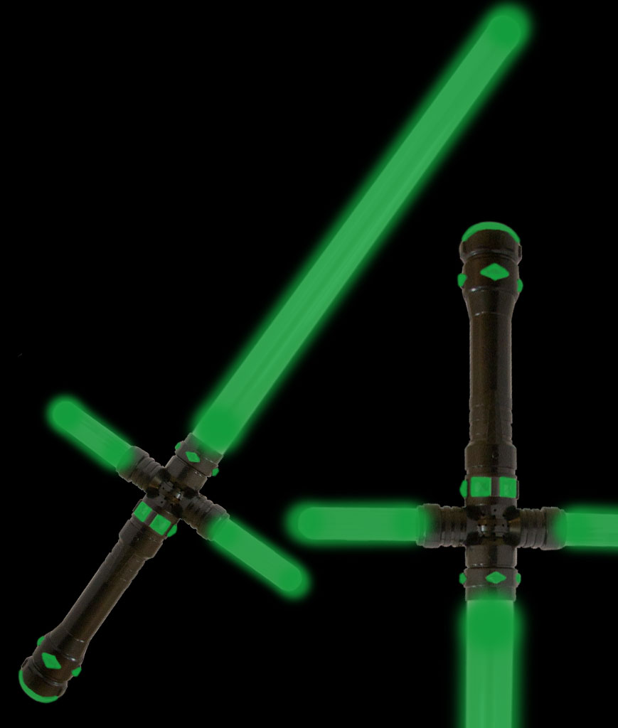 Fun Central AU179 LED Light Up 34.5 Inch Tri-Saber - Green