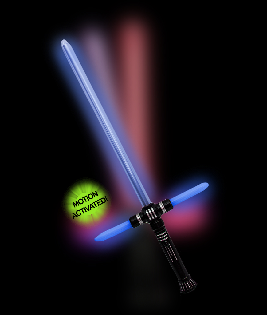 LED 27 Inch Tri-Saber with Sound- Multicolor