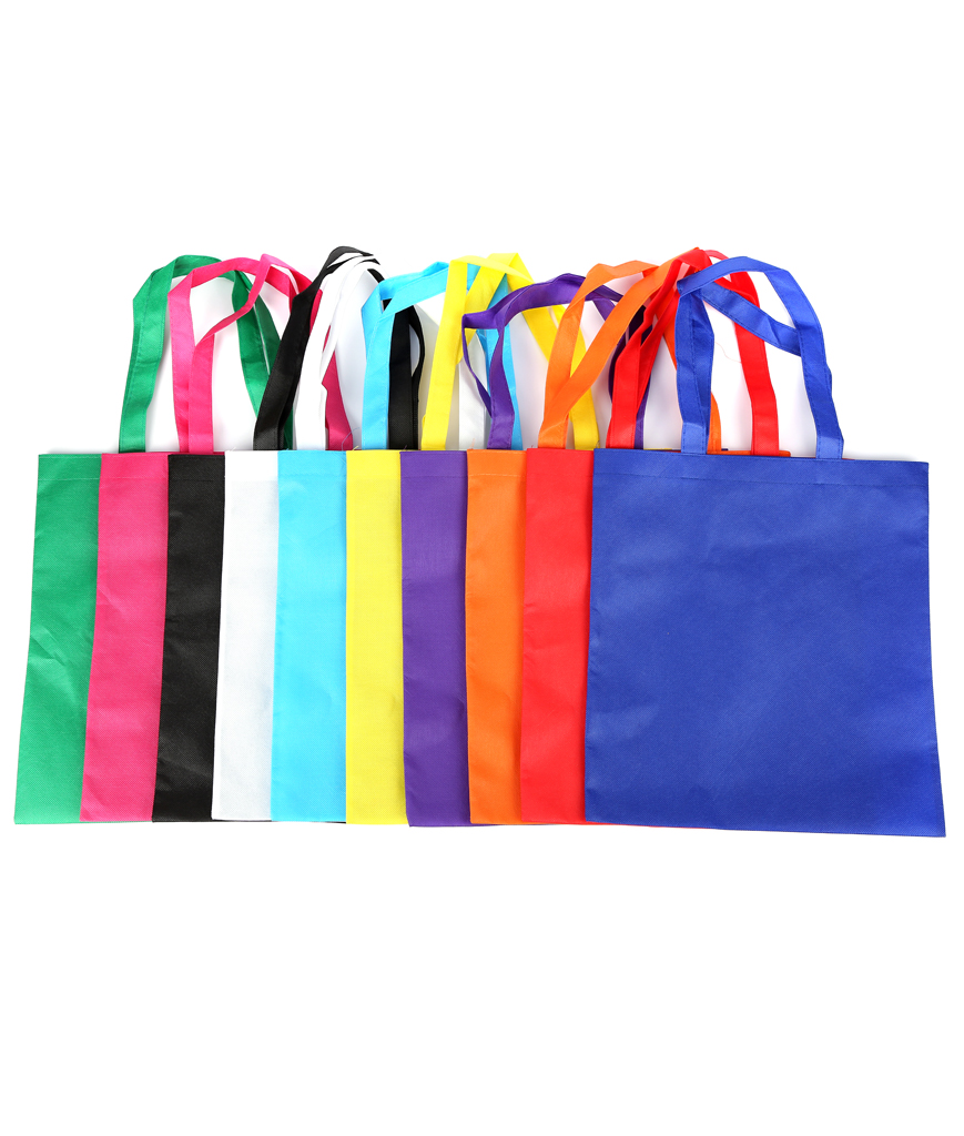 15.5 Inch Polyester Tote Bag Assorted - 50ct