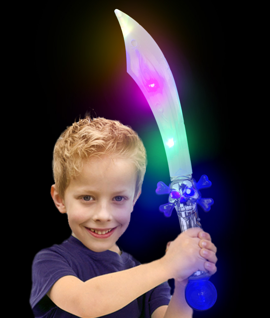 Fun Central AJ452 LED Light Up Skull Crystal Pirate Sword