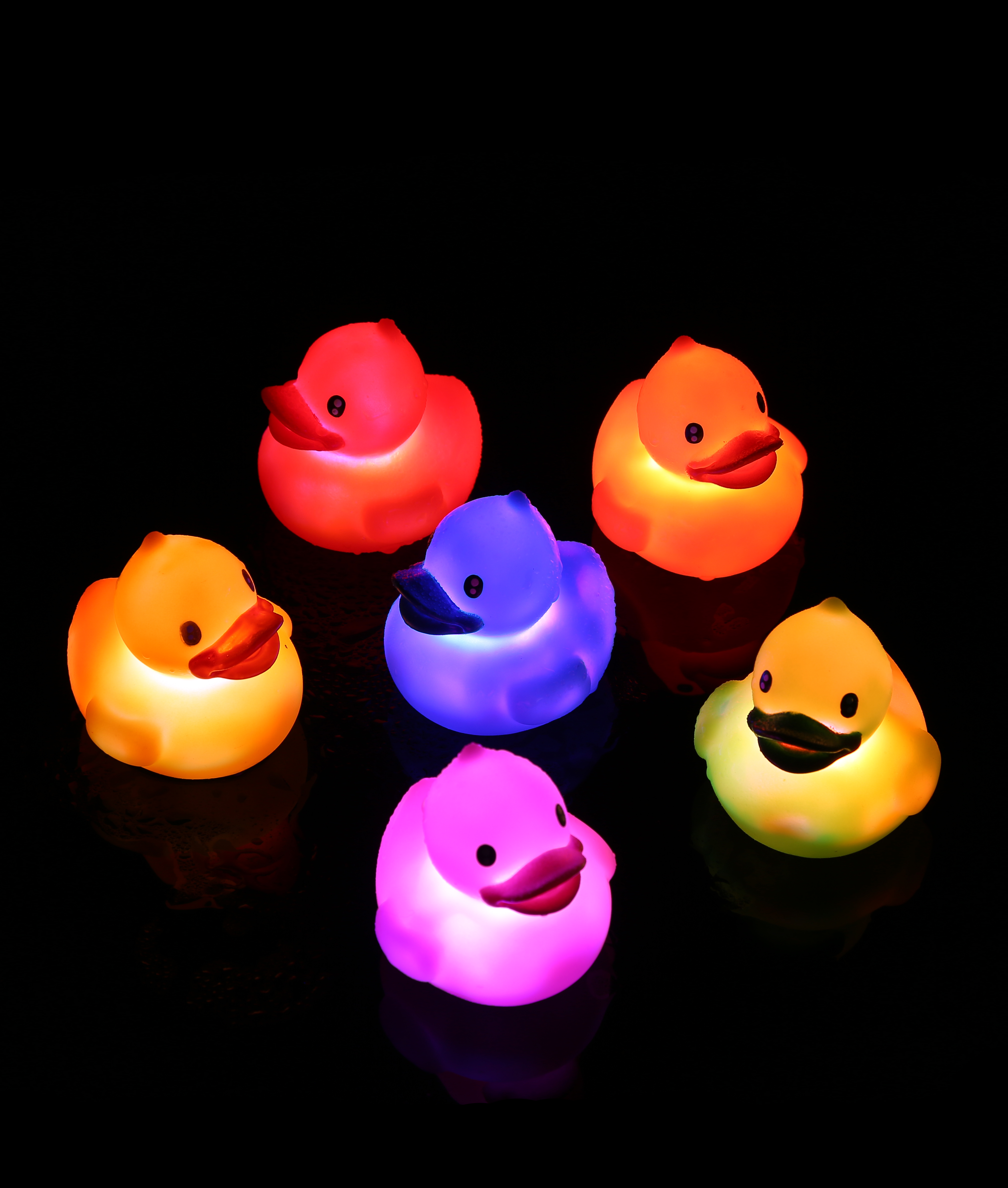 LED 2.5 Inch Liquid Activated Rubber Duck - Assorted