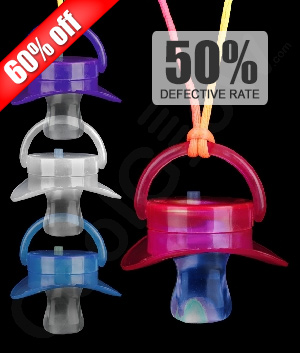 LED Novelty Pacifiers - Assorted
