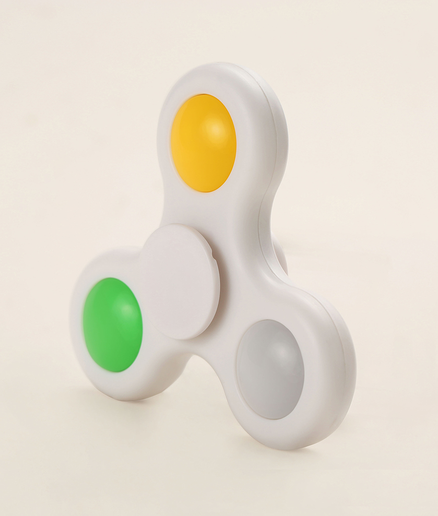 LED Finger Spinner - White