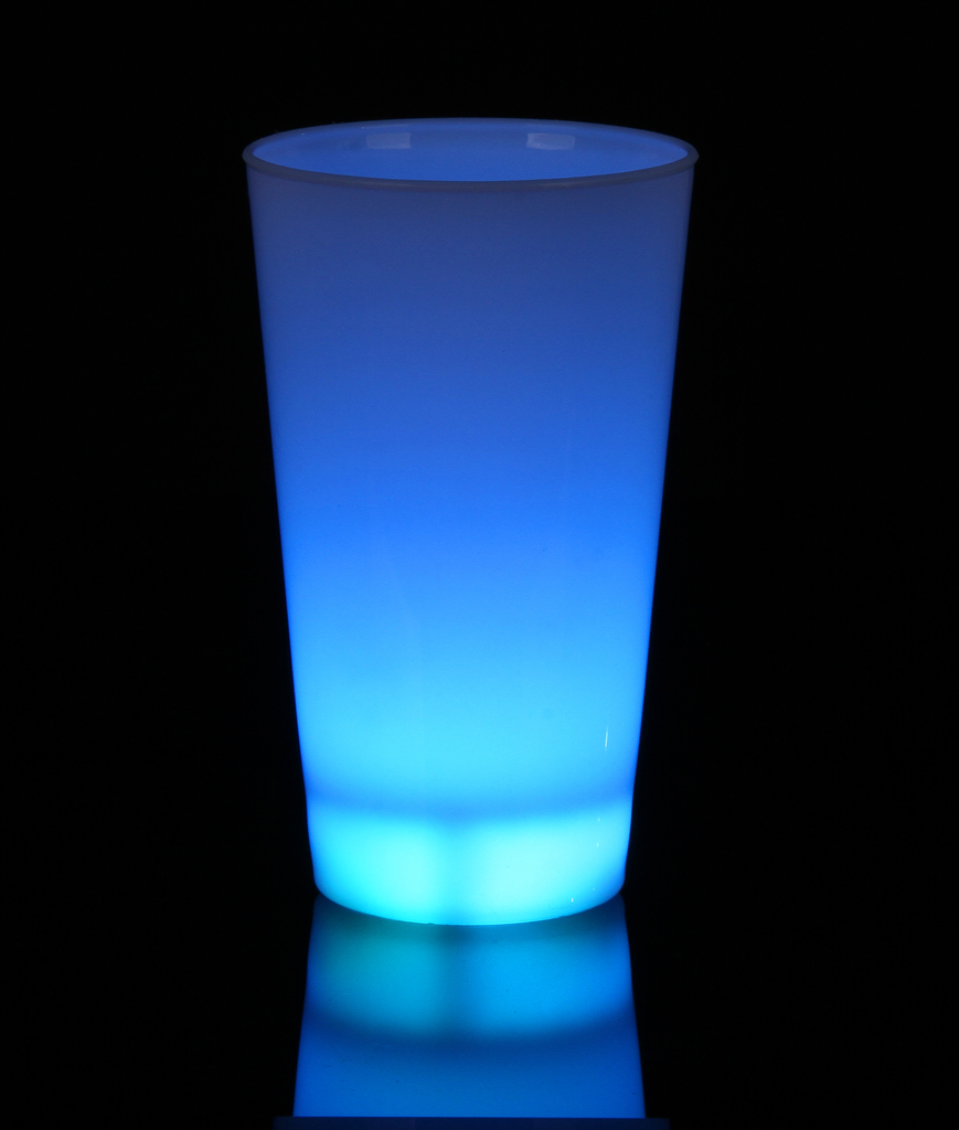 Fun Central I562 Glow in the Dark LED Light Up Cup - 16oz Blue