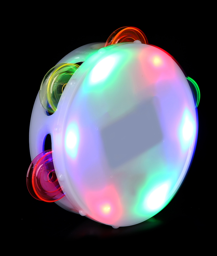 Fun Central AI337 LED Light Up Round Tambourine - Multicolor