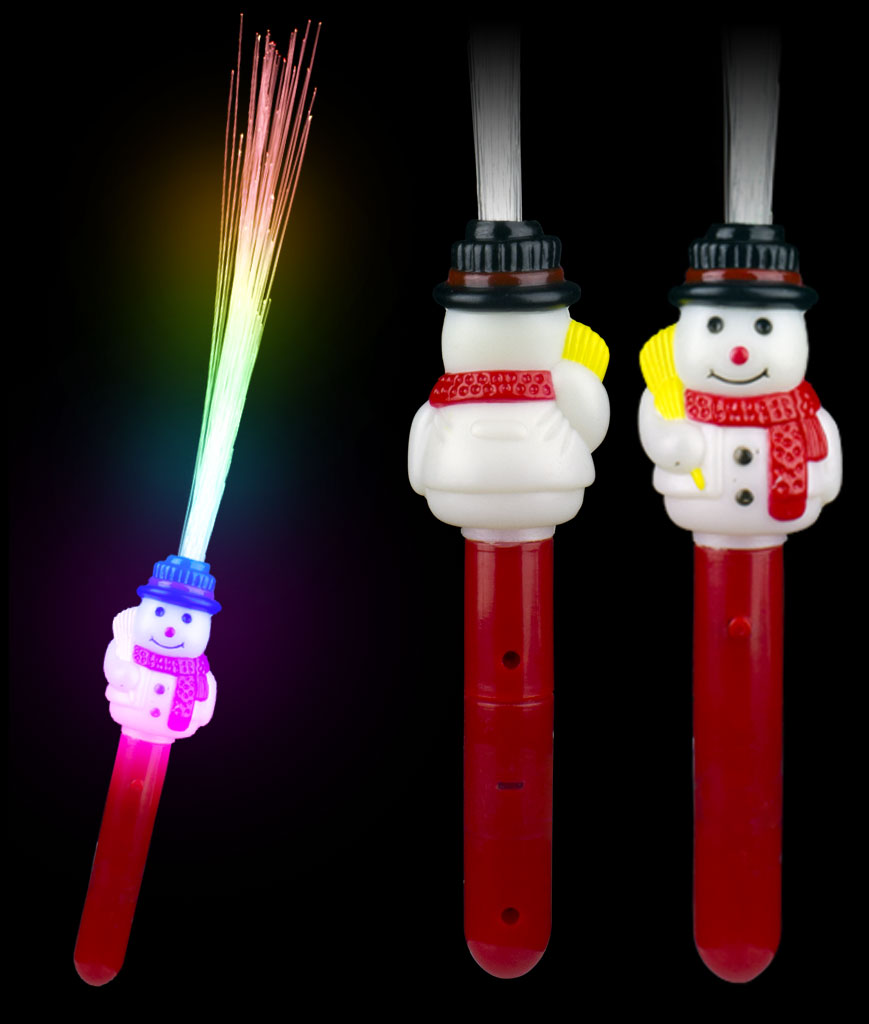 LED Fiber Optic Wand - Snowman