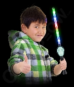 Fun Central AI679 LED Light Up Scary Skull Wand