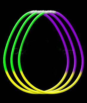 22 Inch Glow Necklaces Green-Yellow-Purple