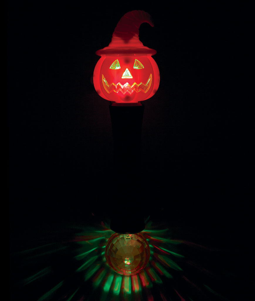 LED Witchy Pumpkin Wand