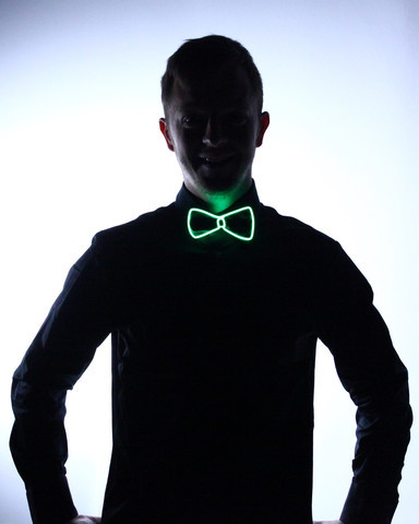 Light Up Bow Tie - Green