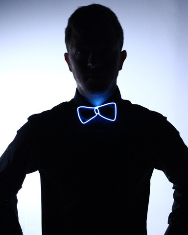Light Up Bow Tie - White