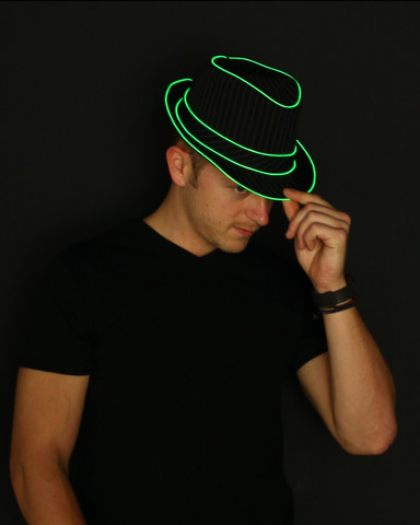 Light Up Fedora - Green