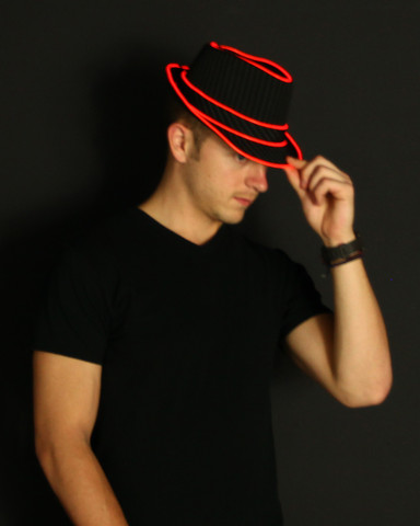 Light Up Fedora - Red