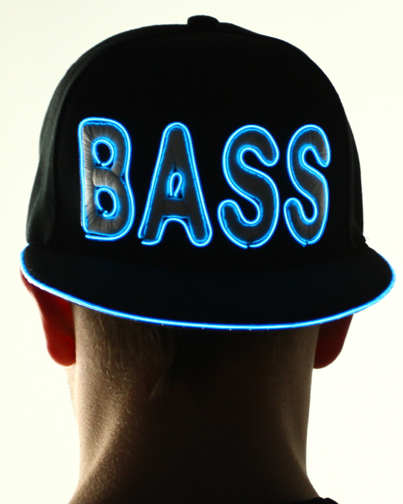 Light Up Snapback Hat - Bass - Blue