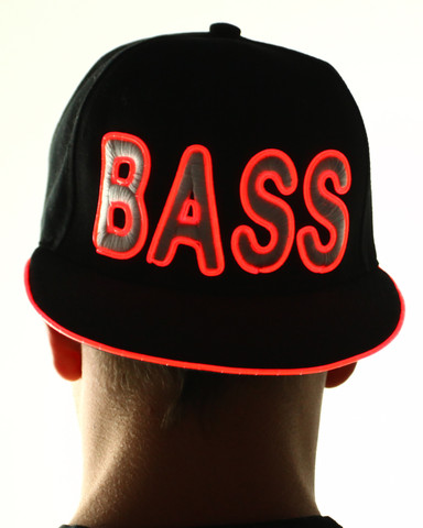 Light Up Snapback Hat - Bass - Red