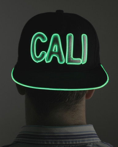 Light Up Snapback Hat - Cali - Green