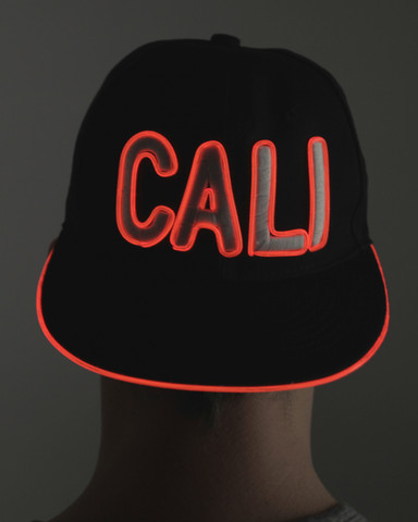 Light Up Snapback Hat - Cali - Red