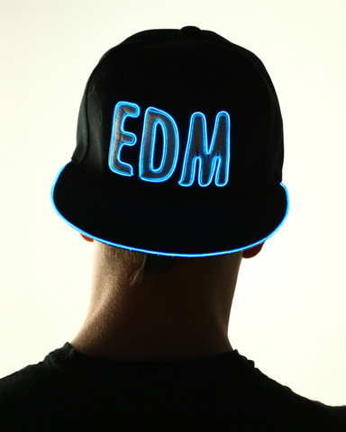 Light Up Snapback Hat - EDM - Blue