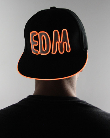 Light Up Snapback Hat - EDM - Orange