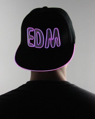 Light Up Snapback Hat - EDM - Purple