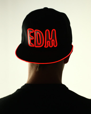 Light Up Snapback Hat - EDM - Red