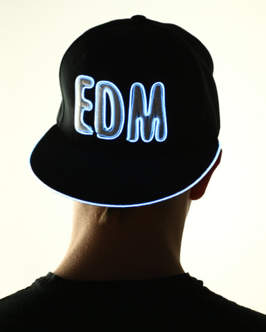 Light Up Snapback Hat - EDM - White