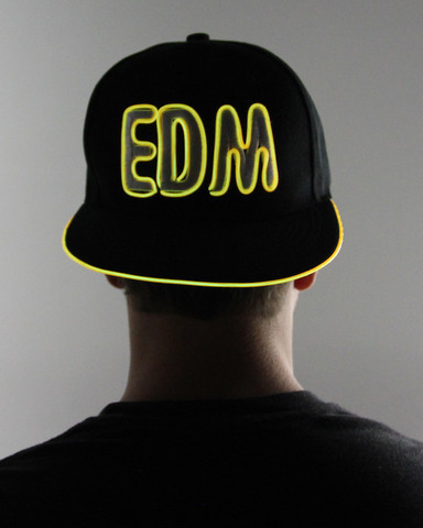 Light Up Snapback Hat - EDM - Yellow