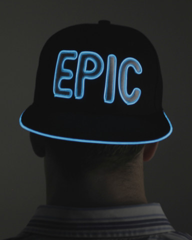 Light Up Snapback Hat - Epic - Blue