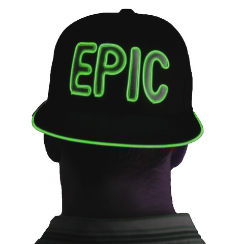 Light Up Snapback Hat - Epic - Green