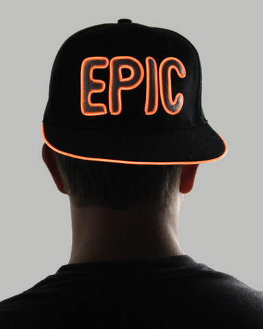 Light Up Snapback Hat - Epic - Orange