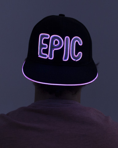 Light Up Snapback Hat - Epic - Pink
