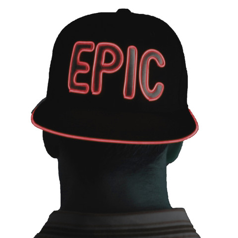 Light Up Snapback Hat - Epic - Red