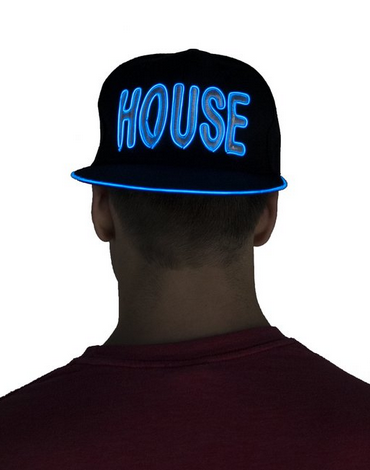 Light Up Snapback Hat - House - Blue