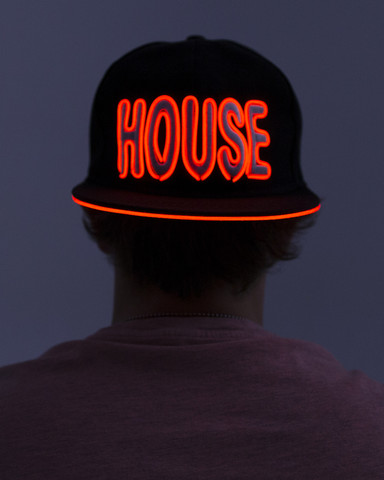 Light Up Snapback Hat - House - Red