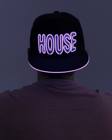 Light Up Snapback Hat - House - Pink