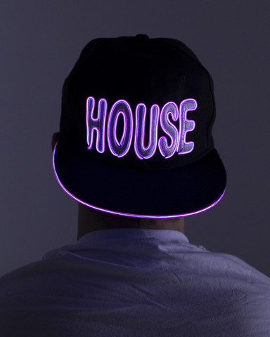 Light Up Snapback Hat - House - Purple