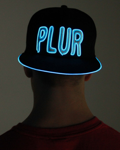 Light Up Snapback Hat - Plur - Aqua
