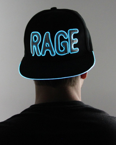 Light Up Snapback Hat - Rage - Aqua