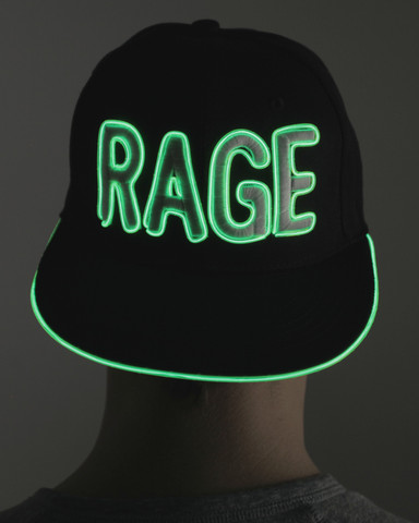 Light Up Snapback Hat - Rage - Green